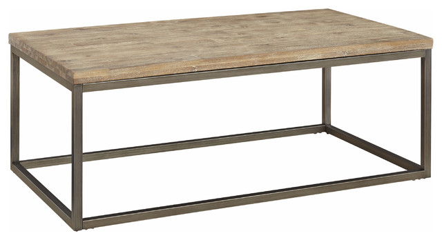 Superieur Lena Coffee Table, Acacia Wood Top