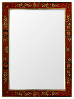 Hand Painted Tibetan Design Mirror Asian Wall Mirrors by