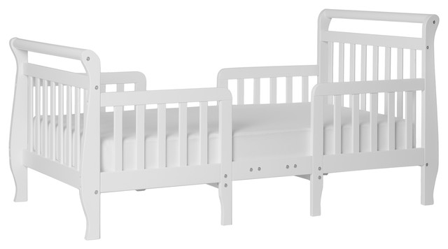Dream On Me Emma 3 in 1 Convertible Toddler Bed, White