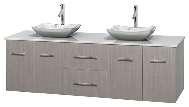 72 double bathroom vanity white man made stone countertop sinks contemporary bathroom for Man made bathroom countertops