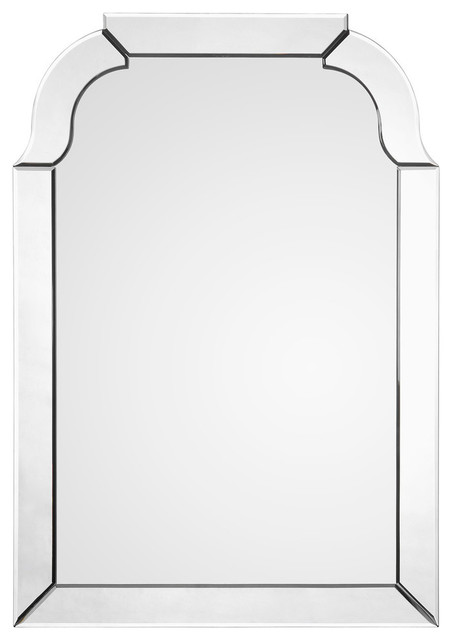 Mirror Framed Queen Anne Mirror   Transitional   Wall Mirrors   By Bliss  Home U0026 Design