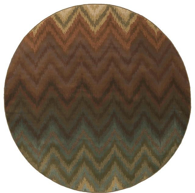 Oriental Weavers Hudson 3458a Brown Multi Geometric Area