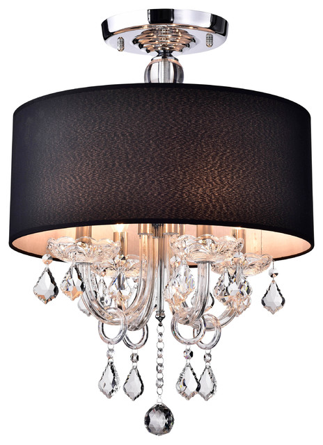 Antal 4-Light Black Semi-Flush Mount.