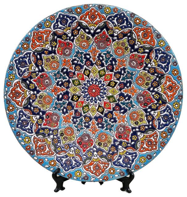 Handmade Decorative Ceramic Plate Glazed Pottery