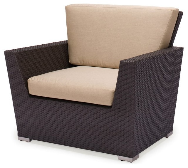 Caluco Maxime All Weather Wicker Club Chair Multicolor 607 21 Bravada Salsa Contemporary Patio Furniture And Outdoor By Hayneedle