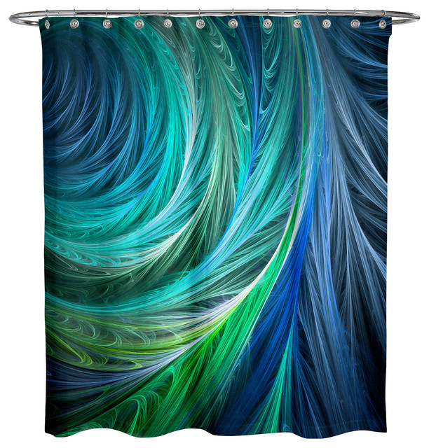 Cyanotic Silk Shower Curtain - Contemporary - Shower Curtains - by ...
