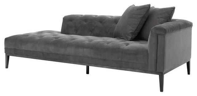 """Gray Sofa Right, Eichholtz Cesare, Gray, 87""""x38""""x26""""."""