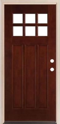 Legacy Doors M-43 Square Top Prefinished Mahogany Door