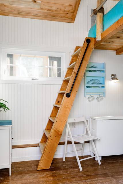 tiny house loft ladder. Beach Tiny House - Loft Ladder Beach-style