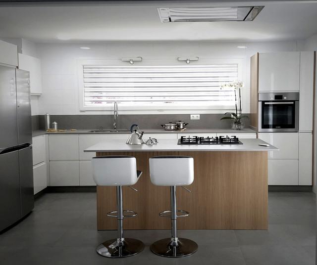 Único Moderna Cocinas Blancas Houzz Colección - Ideas de Decoración ...