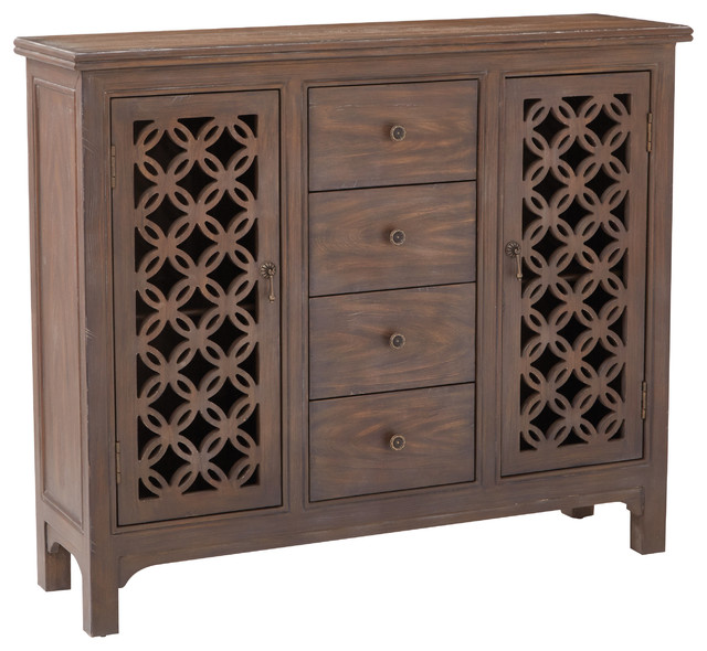 Creswell Console, Natural - Transitional - Accent Chests And Cabinets - by Office Star Products