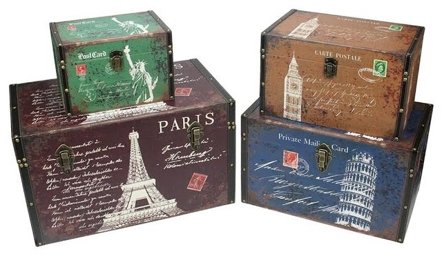 Decorative Boxes Storage New Northlight Seasonal  Vintagestyle Travel Themed Decorative Design Inspiration
