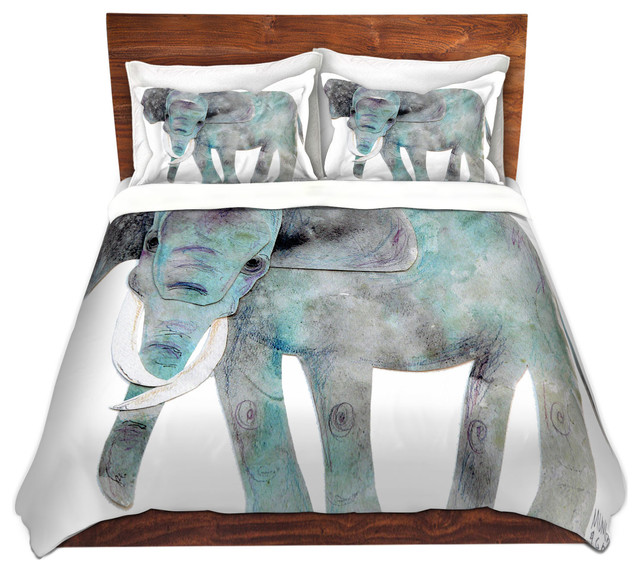 Dianoche Microfiber Duvet Covers Elephant Contemporary And