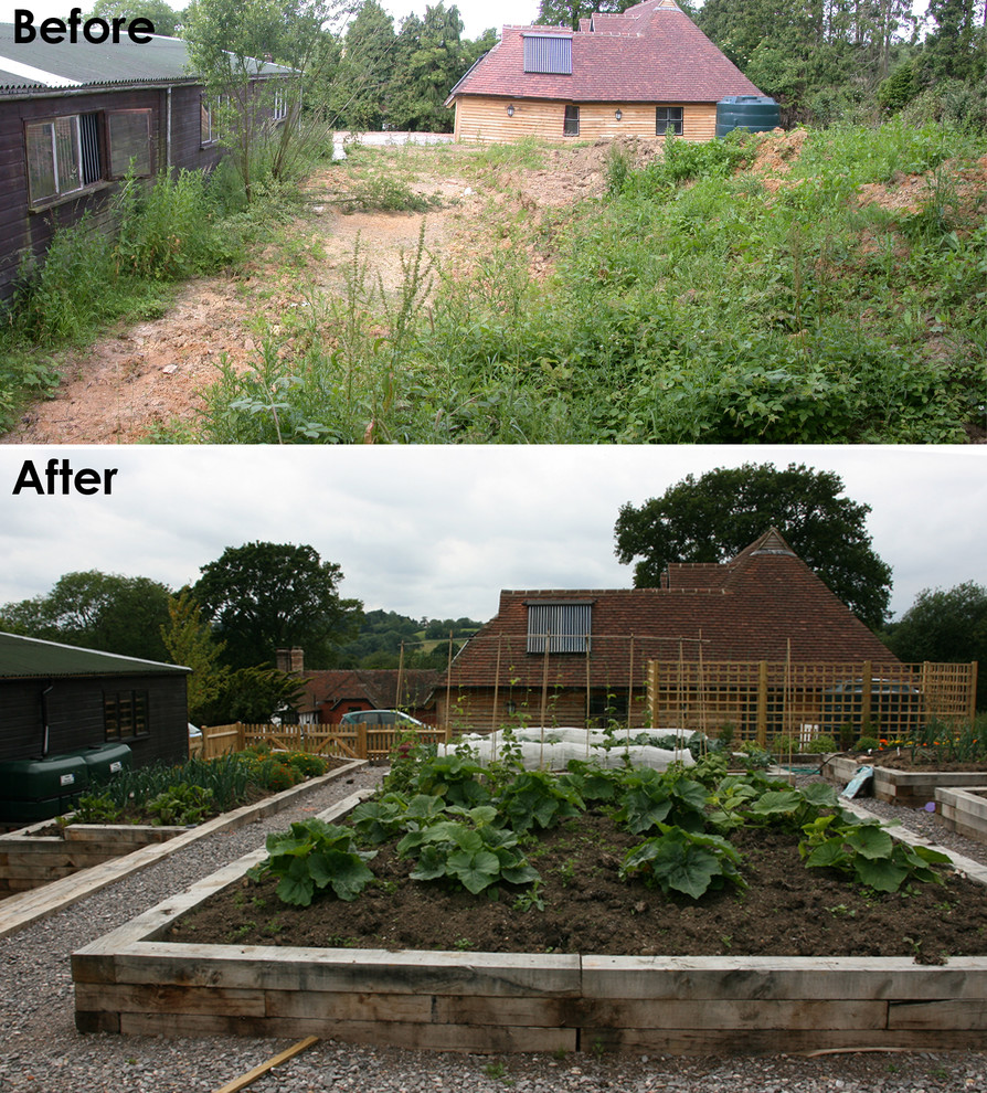 Before and after - vegetable garden