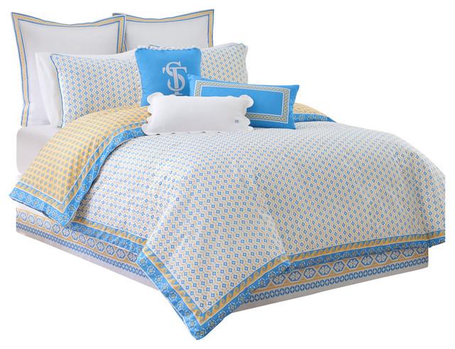 Southern Tide Sailgate Full Yellow Comforter Set