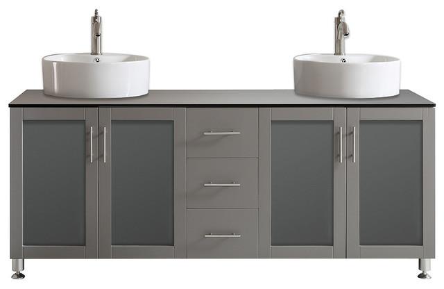 Tuscany Double Vanity Gray 72 Quot Contemporary Bathroom