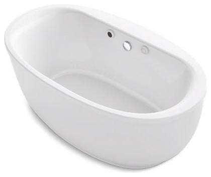 "Kohler Sunstruck 66"" X 36"" Freestanding Bubblemassage Air Bath, White"