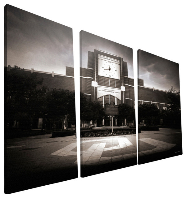 "The University Of Oklahoma Memorial Stadium Canvas Print, 24""x48""."
