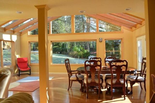 sunroom addition redmond wa traditional dining room