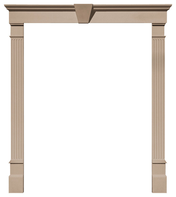 "6 7/8""x96""x1 7/8""p Fluted Pilaster, Set Of 2, Wicker."
