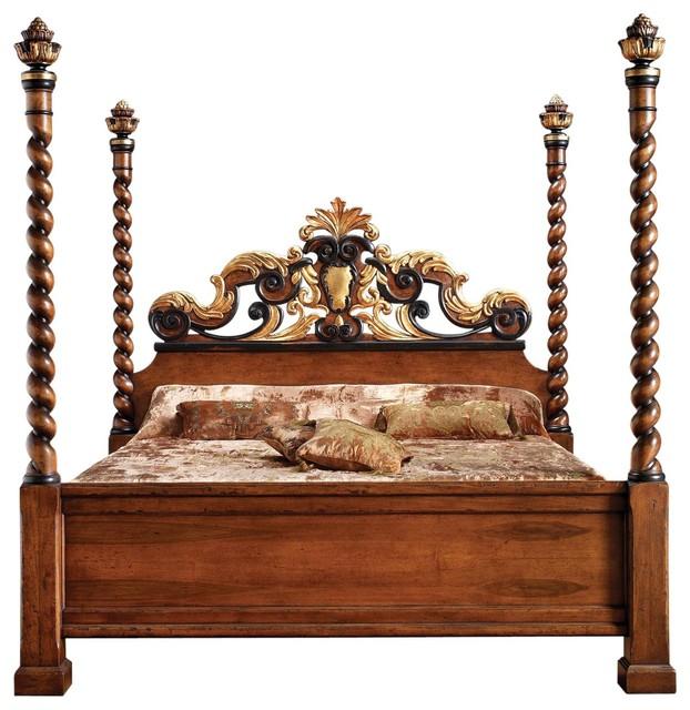 Bed, David Michael Rustic, Ebony Gold Leaf.