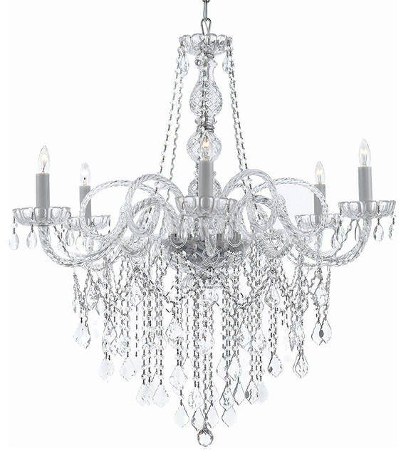 Gallery T22 2236 6 Light 24 Wide Crystal Chandelier With D Accent
