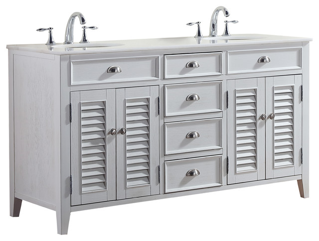 Modetti Palm Beach Cottage Beach Look Double Bathroom Vanity - Bathroom vanities palm beach