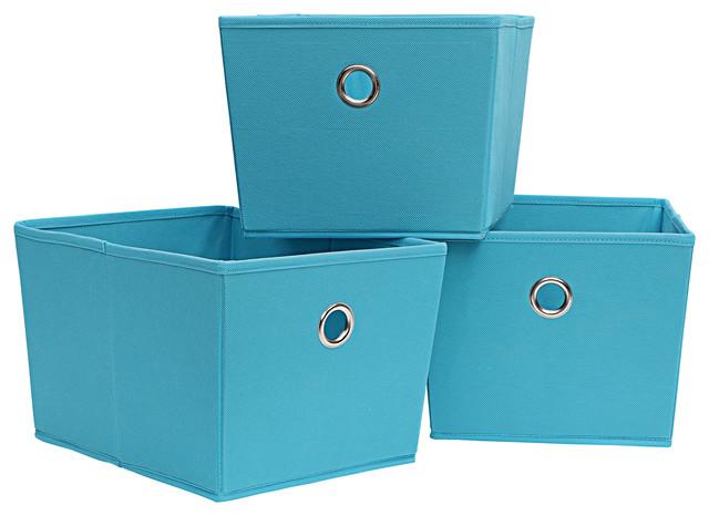 Storage Tote 3-Piece Set, Sky Blue.