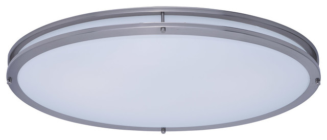 Linear Led 1-Light Flush Mounts, Satin Nickel.