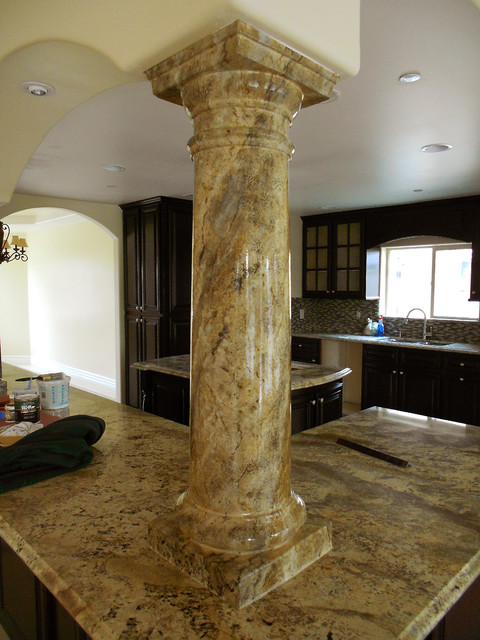 Faux Granite Columns Traditional Los Angeles By Faux