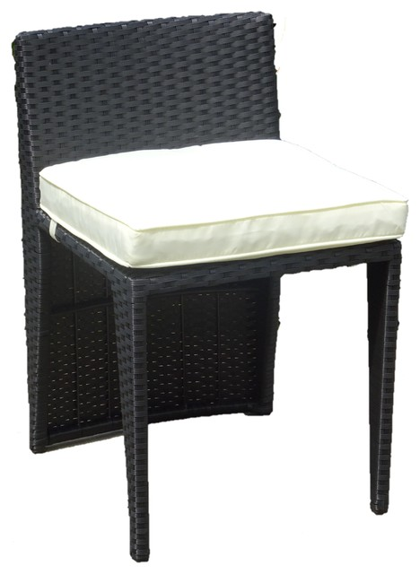 Patio Resin Outdoor Wicker Side Chair Garden Furniture Tropical Dining Chairs By Ratta