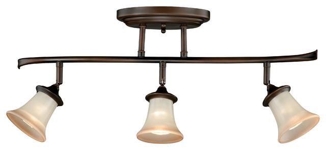 Portfolio 3 Light 22 In Brushed Nickel Bowl Vanity Light: Vaxcel C0018 Sonora 3-Light Ceiling Light Venetian Bronze