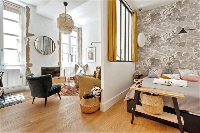 avant apr s un petit nid plein de charme dans le vieux lyon. Black Bedroom Furniture Sets. Home Design Ideas