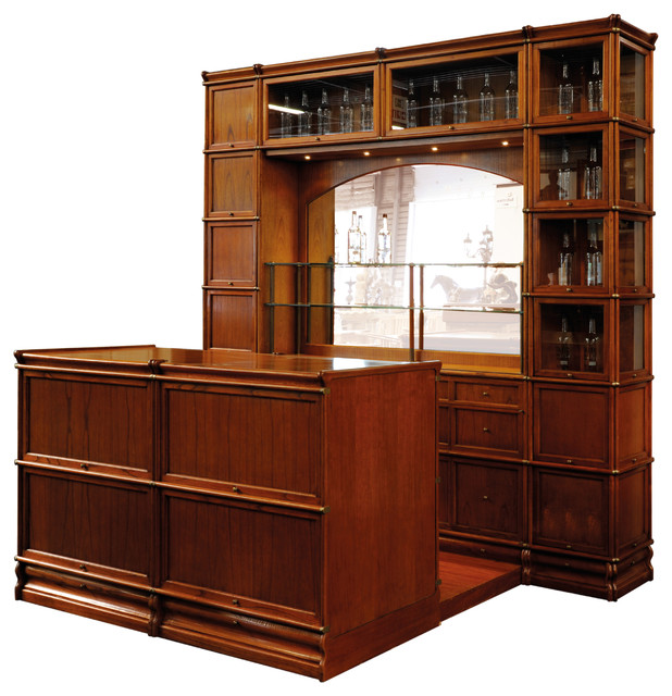 Studio Globe Wernicke, Wooden Bar Cabinet - Traditional - Wine And Bar Cabinets - by Cubicles