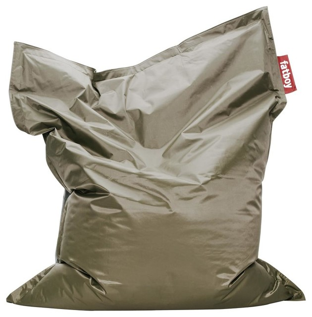 original beanbag in olive contemporary bean bag chairs