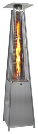 42,000btu Outdoor Pyramid Propane Glass Tube Dancing Flames Patio Heater.
