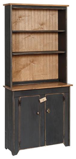 Primitive Pine Hutch And Cabinet