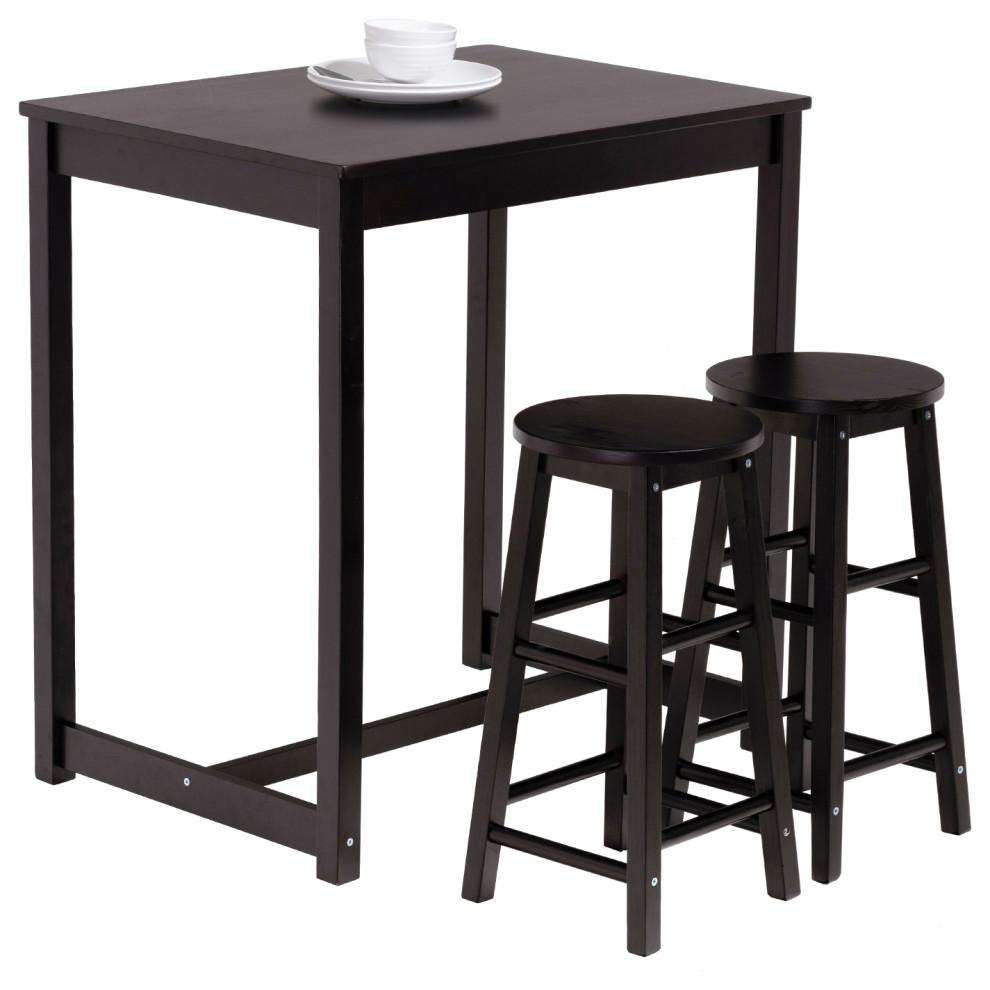 ACME Nirav 3Pc Pk Bar Set Walnut /& Black