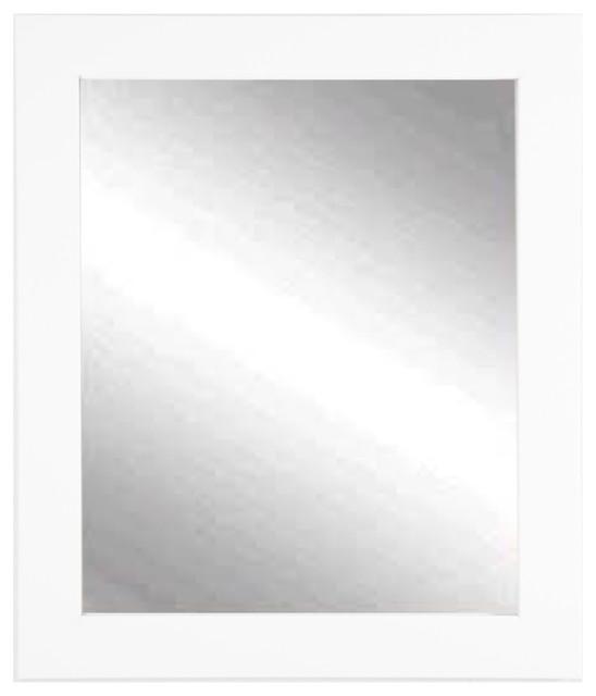 "Pure White Wall Mirror, 32""x36""."