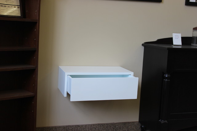 Mounted Bedside Table wall mounted nightstand with drawer | arlene designs