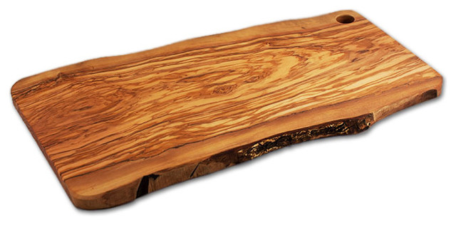 Rustic Italian Olive Wood Slab - 24 Long.