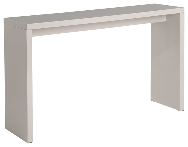 Madrid Console Table, Light Turtledove High Gloss.