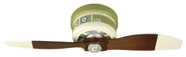 "Warplanes 42"" Ceiling Fan Green/white."