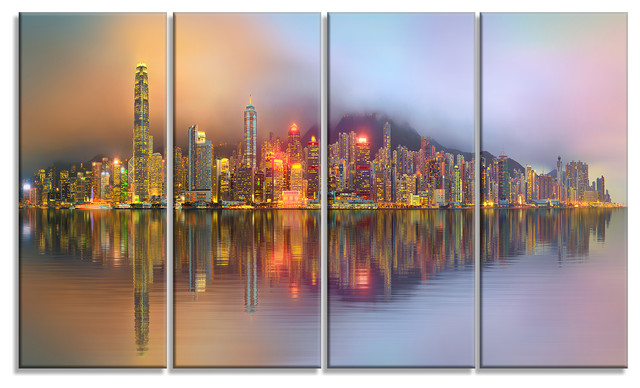 Singapore Financial District Island Cityscape Wall Art On