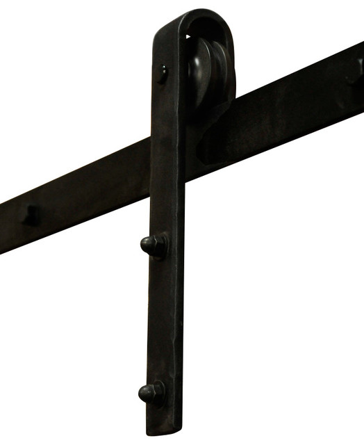 Hammered Barn Door Hardware Kit Bronze 5 Track For 30 Or