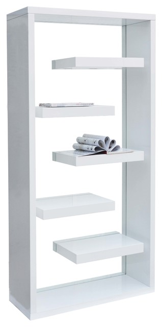 Modern Helix White With Glass Curio With Shelves, High Gloss - Modern - China Cabinets And ...