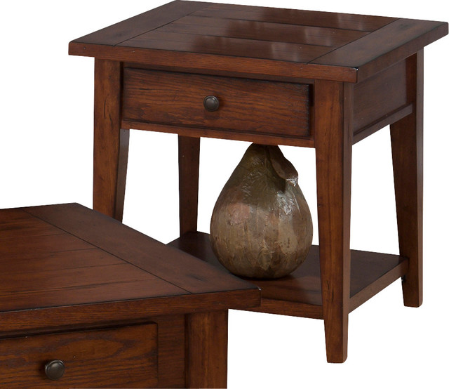 jofran 443 3 clay county square end table with drawer and. Black Bedroom Furniture Sets. Home Design Ideas