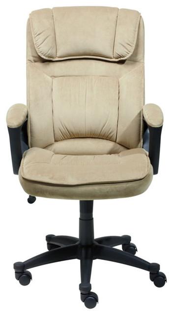 serta executive office chair in light beige microfiber - office
