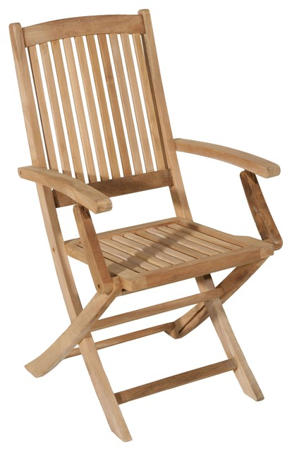 Lombock Teak Folding Garden Lounge Chairs, Set of 2