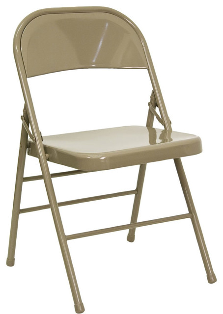 Compact Folding Chair, Beige